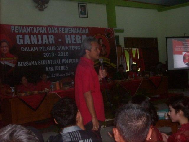 Ganjar Pranowo Calon Gubernur Jawa Tengah 2013-2018 dari PDI Perjuangan