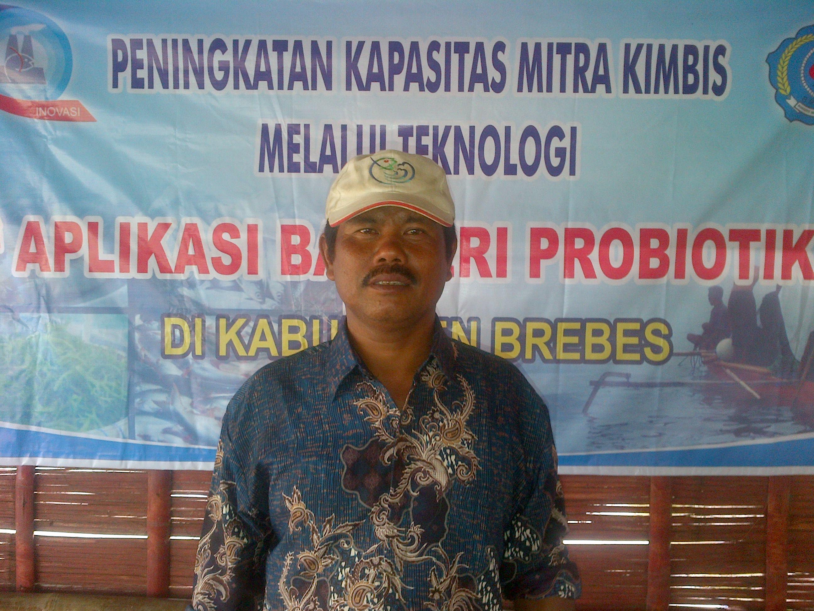 Sumarjo pengguna Tehnologi Probiotik pada tambak udang