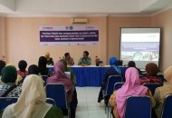 Sosialisasi Program expanding  maternal and neonatal survival (Emas) di Hotel Dian Kamis (24/4).