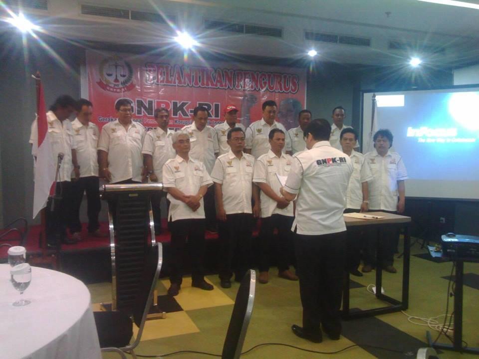 Pelantikan GNPK-RI KOta Tegal Minggu (9/10/2016) bertempat di Hotel Pesona, Jl. Gajah Mada, Kota Tegal.